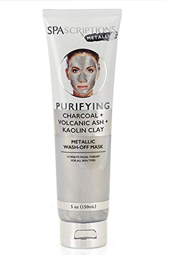 SpaScriptions - SpaScriptions CHARCOAL + VOLCANIC ASH + KAOLIN CLAY METALLIC Wash-Off Face Mask