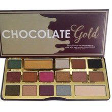 CITY FOCUS - Boski Cosmetics 16 Colors Pressed Powder Eyeshadow Pallete Nude Shimmer Shine Matte Chocolate Gold Eye Shadow Palette Pigmented Bon Bons Bar/Not Too Faced