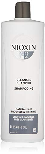 Nioxin - Nioxin Cleanser Shampoo System 2 for Fine Hair with Progressed Thinning, 33.8 Ounce