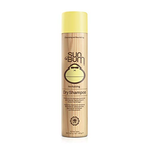 Sun Bum - Sun Bum Revitalizing Dry Shampoo, Hair Refresher, Texturing and Volumizing Spray, Paraben Free, Oil Free, Gluten Free, Vegan, 4.2 oz Bottle, 1 Count