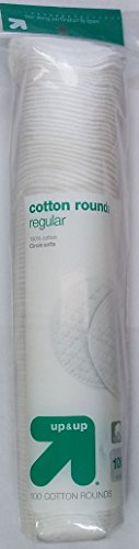 Up&Up - Cotton Rounds, Regular, 100% Cotton Circle Softs, 100ct, by Up & Up