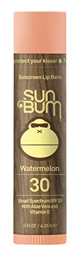 Sun Bum - Sun Bum Watermelon Sunscreen Lip Balm, SPF 30, 0.15 oz. Stick, 1 Count, Broad Spectrum UVA/UVB Protection, Hypoallergenic, Paraben Free, Gluten Free, Vegan