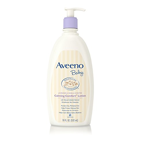Aveeno Baby Calming Comfort Moisturizing Lotion with Lavender, Vanilla and Natural Oatmeal