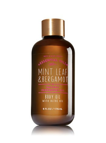 Bath and Body Works - Mint Leaf & Bergamot Body Oil with Olive Oil