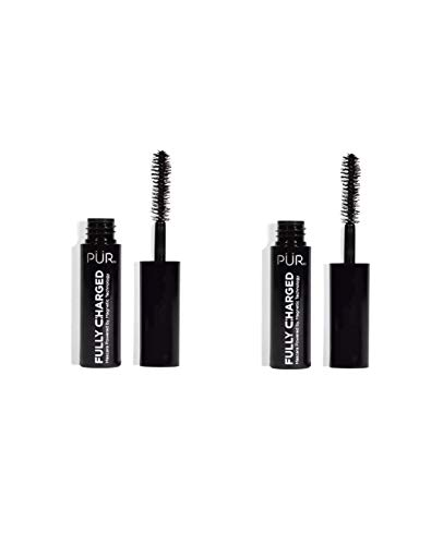 PÚR - PÚR Fully Charged Magnetic Mascara ~ Black ~ Travel Size Duo