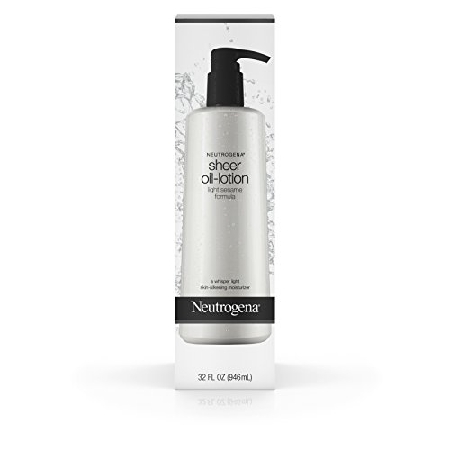 Neutrogena - Neutrogena Moisturizing Sheer Body Oil-Lotion, Lightweight & Fast-Absorbing Sesame Oil Formula, 32 fl. oz