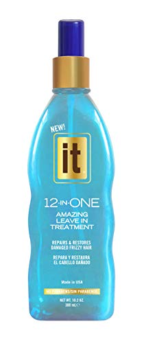 Freeze It - IT 12-in-ONE Amazing Leave In Treatment Spray | Repairs and Restores Damaged Frizzy Hair | Parabens Free, 10.2oz