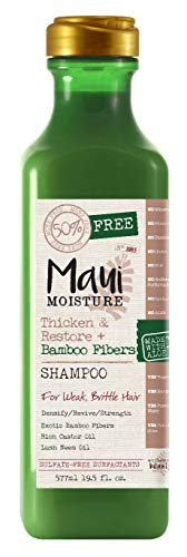Maui Moisture - Maui Moisture Shampoo Bamboo Fibers 19.5 Ounce (Thicken) (577ml) (6 Pack)