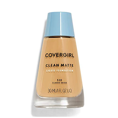 COVERGIRL - COVERGIRL Clean Matte Liquid Foundation Classic Beige 530, 1 oz (Pack of 2)