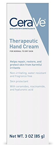 CeraVe - CeraVe Therapeutic Hand Cream 3 oz with Hyaluronic Acid and Ceramides for Skin Protection, Restoration and Repair