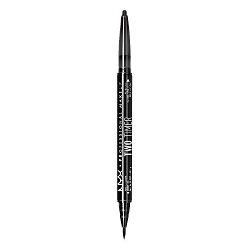 NYX PROFESSIONAL MAKEUP - NYX PROFESSIONAL MAKEUP Two Timer Dual Ended Eyeliner, Jet Black, 0.04 Ounce