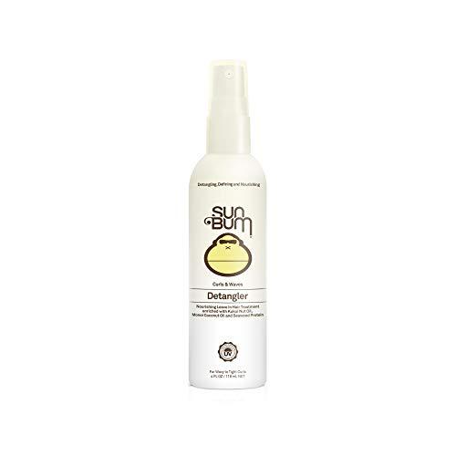 Sun Bum - Sun Bum Curls & Waves Detangler Spray - Leave in Hair Treatment - Detangling Spray for Curly Hair - Sulfate Free - Frizz Control - 4 FL OZ Spray Bottle - 1 Count
