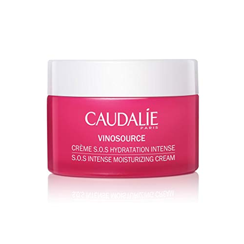 Caudalie CaudalÍe VinoSource S.O.S. Intense Moisturizing Cream. Hydrate, Plump and Soothe Skin with a Clean, Rich Formula made with Grape Antioxidants. Non-Comedogenic, Safe for Sensitive Skin (50 mL)