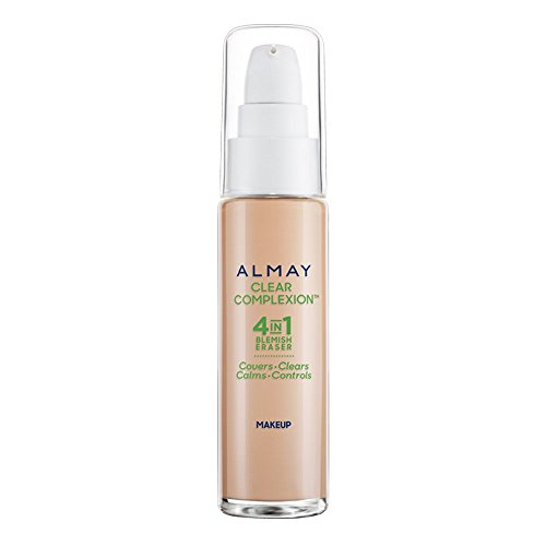 Almay - Almay Clear Complexion Liquid Makeup with Blemish Clear Technology, 900 Tan