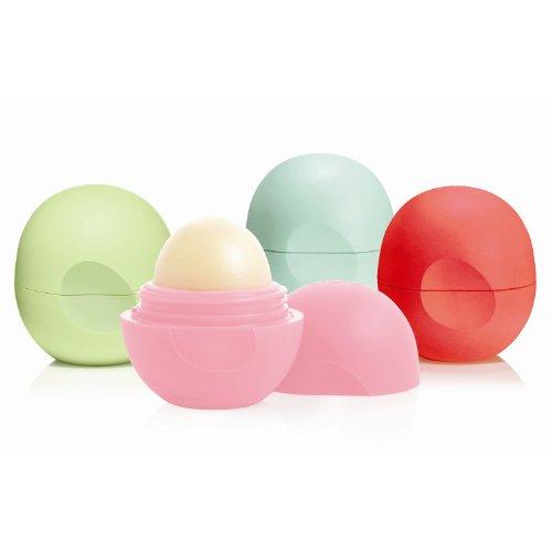 EOS - Eos Organic Smooth Sphere Lip Balm - Summer Fruit, Sweet Mint, Strawberry Sorbet, Honeysuckle Honeydew (4 Pack)