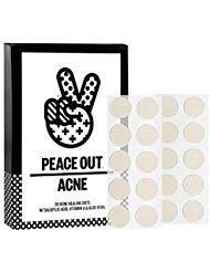 null - Peace Out Acne Dots - 20 Acne Healing Dots - W/Salicylic Acid, Vitamin A & Aloe Vera