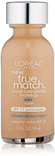 L'Oreal Paris - L'Oreal True Match Super Blendable Makeup, Creamy Natural [C3], 1 oz (Pack of 4)