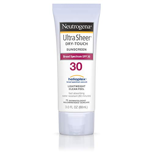 Neutrogena - Neutrogena Ultra Sheer Dry-Touch Water Resistant and Non-Greasy Sunscreen Lotion with Broad Spectrum SPF 30, 3 fl. oz (Set of 2)