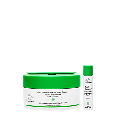 Drunk Elephant - Drunk Elephant Slaai Makeup-Melting Butter Cleanser and Bamboo Booster. Innovative Makeup Removing Cleansing Balm that Melts Away Dirt, Makeup & Sunscreen (110G/3.5g)