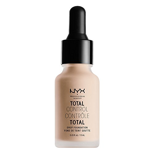 NYX NYX PROFESSIONAL MAKEUP Total Control Drop Foundation, Porcelain, 0.43 Fluid Ounce