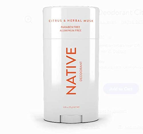 Native Deodorant - Native Deodorant Citrus & Herbal 2.65oz