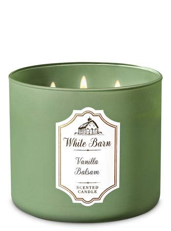 Bath & Body Works - White Barn 3 Wick Candle, Vanilla Balsam