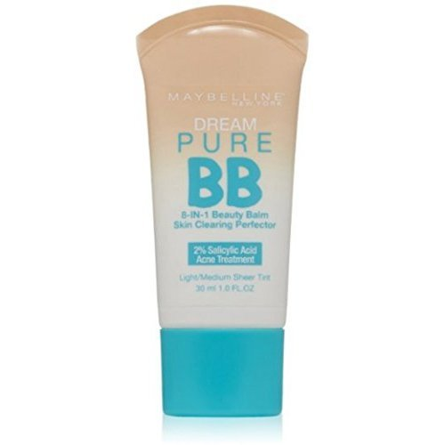 Maybelline New York - Dream Pure BB Cream 8-in-1 Skin Clearing Perfector, Light/Medium