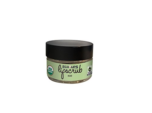 Eco Lips - Eco Lips LIP SUGAR SCRUB 2 Pack (2-0.5oz jars) 100% Organic Lip Care Treatment with Organic Sugar & Coconut Oil - Gently Exfoliate & Polish Dry, Flaky Lips, 100% Edible (Mint)