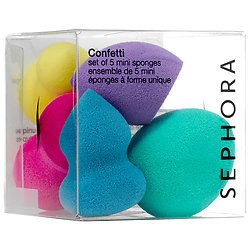 Sephora - Sephora Confetti Set of 5 Uniquely-Shaped Mini Sponges