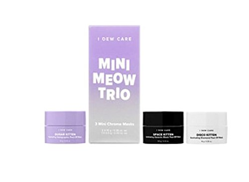 I DEW CARE - I Dew Care Mini Meow Face Mask Trio! Sugar Kitten! Space Kitten! Disco Kitten! Great Addition To Your Skin Care Routine! For Exfoliating, Hydrating, And An Extra Glow!