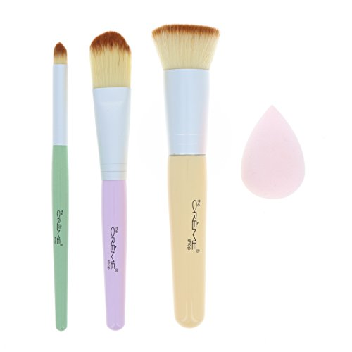 The Crème Shop - The Crème Shop - Get Correct Tool Set (Concealer Brush, Foundation Brush, Flat Brush & Blending Sponge)