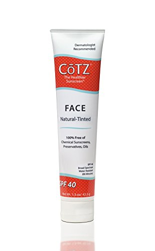 CoTZ - Cotz Face Natural Skin Tone SPF 40, 1.5 Ounce