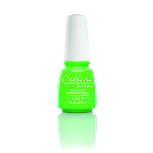 China Glaze - China Glaze Gelaze 100% Gel-n-Base Polish, In The Lime Light, 0.5 Ounce