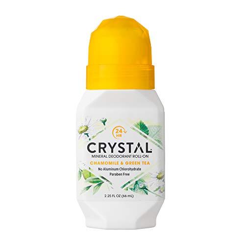 CRYSTAL Deodorant - Crystal Mineral Deodorant Roll-On, Chamomile & Green Tea, 2.25 fl oz