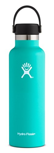 Hydro Flask - Hydro Flask 21 oz Double Wall Vacuum Insulated Stainless Steel Leak Proof Sports Water Bottle, Standard Mouth with BPA Free Flex Cap, Mint