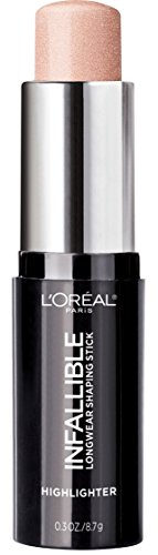 L'Oreal Paris - L'Oreal Paris Makeup Infallible Longwear Highlighter Shaping Stick, Up to 24hr Wear, Buildable Cream Highlighter Stick, 41 Slay in Rose, 0.3 oz.