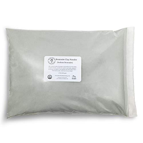 Bare Essentials Living - Bentonite Clay Powder Bulk 5 pounds Cosmetic for face, hair, body, mask, acne, mud bath, DIY soap making, deodorant, etc. by Bare Essentials Living