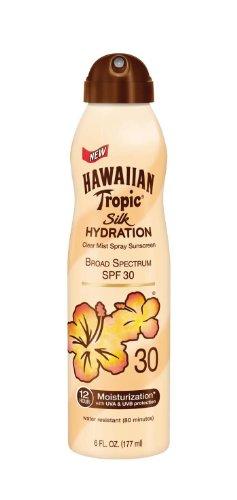 Hawaiian Tropic Hawaiian Tropic Sunscreen Silk Hydration Moisturizing Broad Spectrum Sun Care Sunscreen Spray - SPF 30, 6 Ounce
