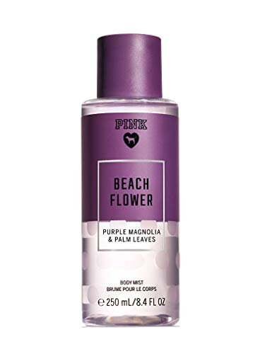 PINK - Victorias Secret Pink Collection Beach Flower 8.4 Ounce Body Mist Purple Magnolia and Palm Leaves