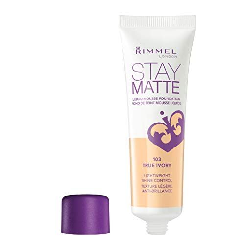 Rimmel - Rimmel Stay Matte Foundation True Ivory 1 Fluid Ounce Bottle Soft Matte Powder Finish Foundation for a Naturally Flawless Look