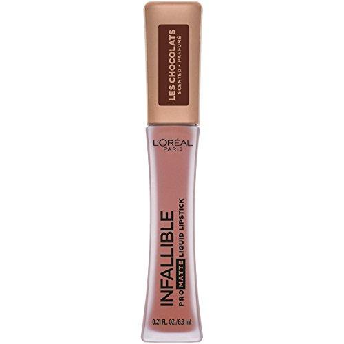L'Oreal Paris - Infallible Pro Matte Les Chocolats Scented Liquid Lipstick, Dose of Cocoa