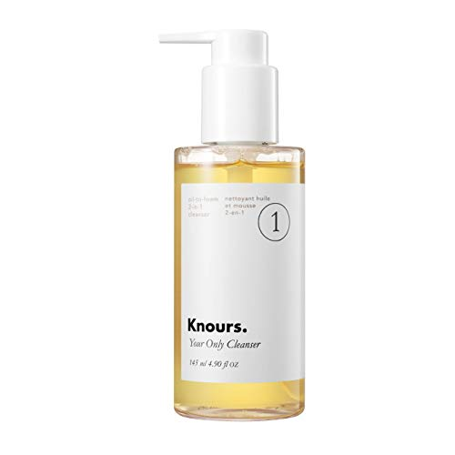 KNOURS. KNOW YOUR SKIN. PERIOD. - Knours. - Your Only Cleanser | Oil to Foam Double Cleansing EWG Verified Natural Ingredients Clean Beauty (145ml/4.9 fl oz.)
