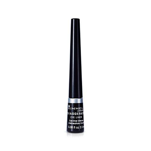 Rimmel Rimmel Exaggerate Felt Tip Eye Liner, Black - Easy Precise Application Long Lasting Felt Tip Liquid Eye Liner Pen