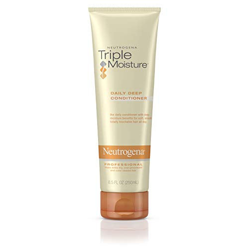 Neutrogena - Neutrogena Triple Moisture Daily Deep Conditioner for Extra Dry Hair, Damaged & Over-Processed Hair, Intensive Hydrating Conditioner with Olive, Meadowfoam & Sweet Almond, 8.5 fl. oz