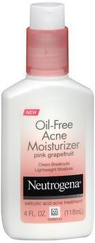 Neutrogena Oil-Free Acne Moisturizer, Pink Grapefruit