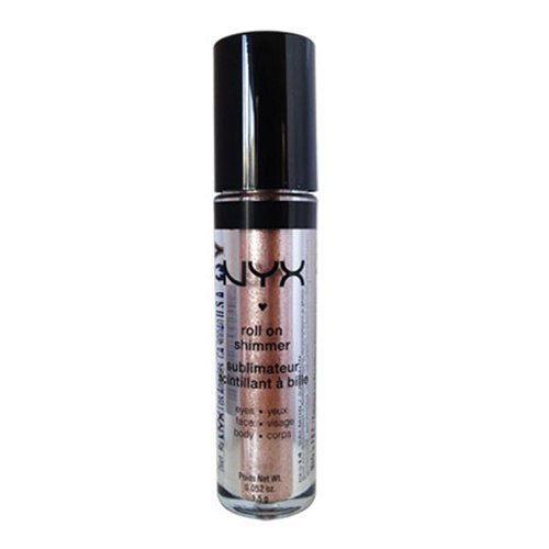 NYX - NYX Roll on Eye Shimmer / NUDE - Champagne with Matching Glitter for Face,Eyes&Body