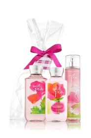 Bath & Body Works - Bath and Body Works Sweet Pea Set, Body Lotion, Shower Gel and Fragrance Mist, Full Size