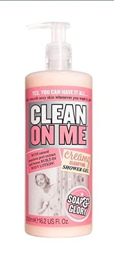 Soap and Glory Clean On Me Shower Gel and Body Lotion