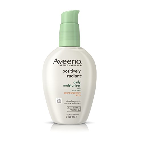 Aveeno - Aveeno Positively Radiant Daily Moisturizer With Sunscreen Broad Spectrum Spf 15, 4 oz.