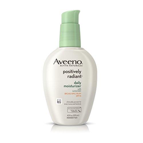 Aveeno - Aveeno Positively Radiant Daily Moisturizer With Sunscreen Broad Spectrum Spf 15, 4 oz.